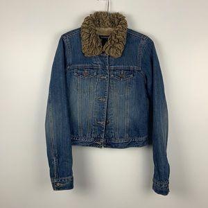 Abercrombie & Fitch Fur Denim Jacket!